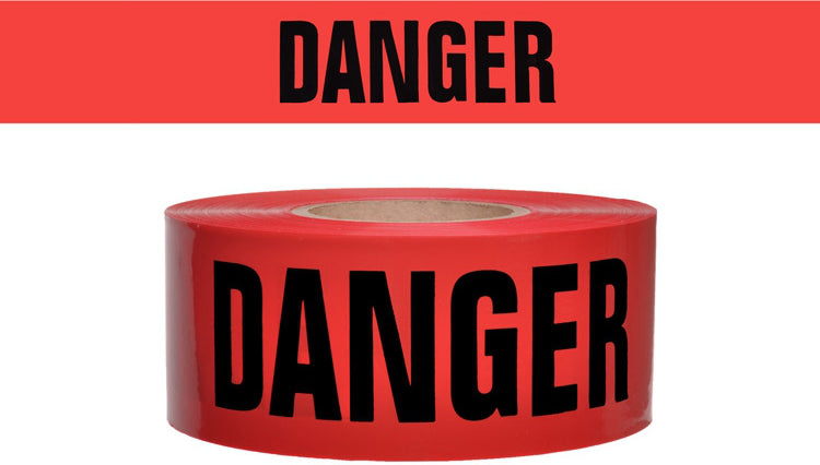 "Red Barrier Tape - ""DANGER"" - Wryker"