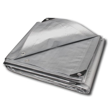 Heavy Duty Silver 10 MIL Waterproof Tarp