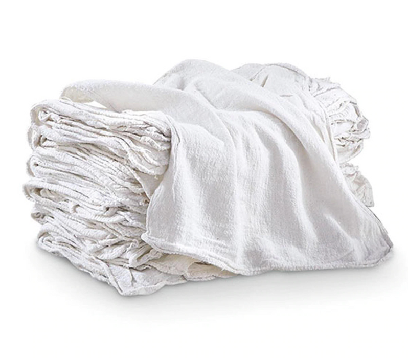 Rags White Terry Cloth 10LB Box