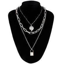 Load image into Gallery viewer, Double Layer Lock Necklace