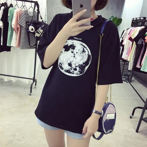 Moon Printed Loose T-Shirt