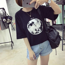 Load image into Gallery viewer, Moon Printed Loose T-Shirt