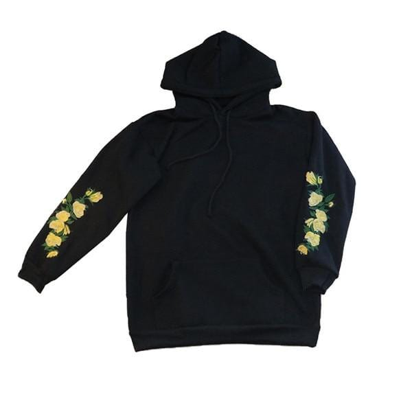 Women Flowers Hoodies