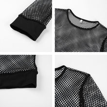 Load image into Gallery viewer, Black Mesh T-shirt