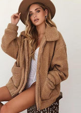 Load image into Gallery viewer, Plush Teddy Coat Plus Size
