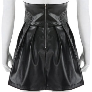 Gothic Leather Skirt