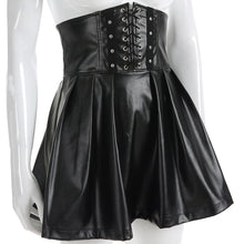 Load image into Gallery viewer, Gothic Leather Skirt
