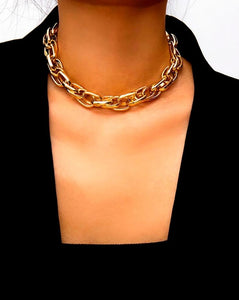 Heavy Metal Chain Choker Necklace