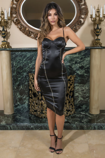satin bodycon dress