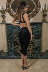 velvet crop top and pant set