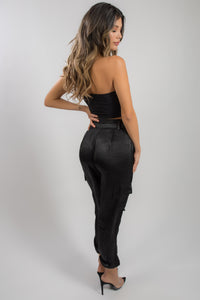 SATIN DOWN TROUSERS
