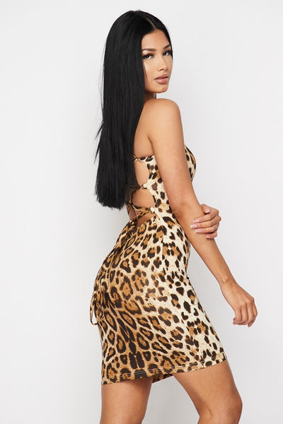 LEOPARD LOVE MINI DRESS