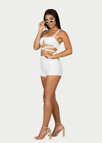 white two piece set