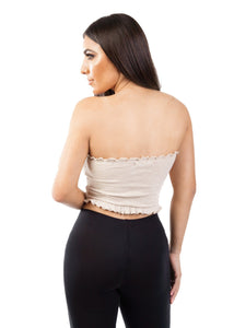 women's crop top nude