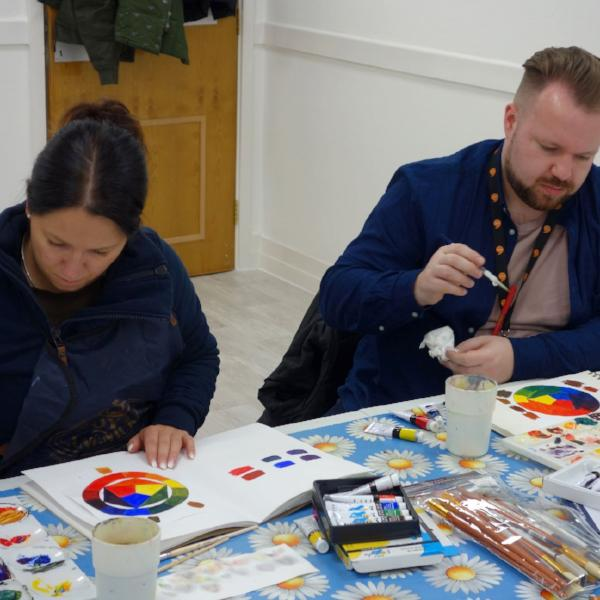 Adult painting class in Cardiff