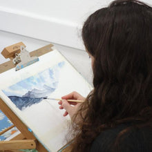 Watercolour painting during art course at Cardiff Artspace