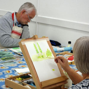 Students in a painting class at Cardiff Artspace