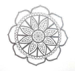 Mandala drawing by an art class student.