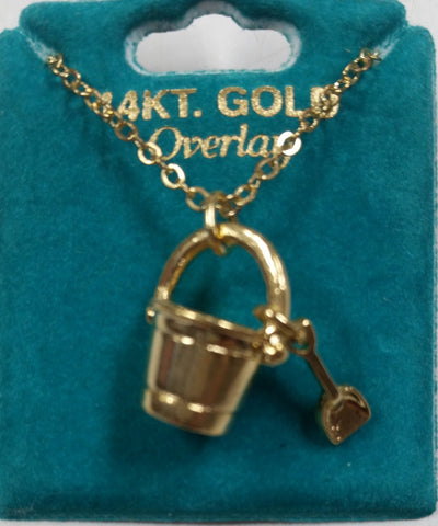 "Sand Bucket 16"" Gold Overlay Necklace"