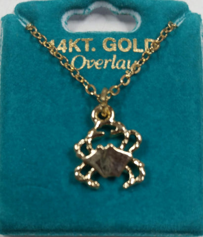 "Crab 16"" Gold Overlay Necklace"