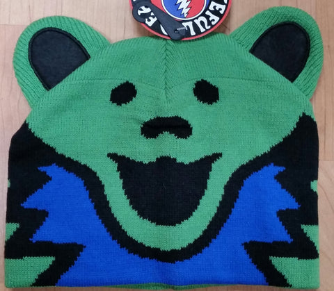 Grateful Dead Green Bear Knit Hat