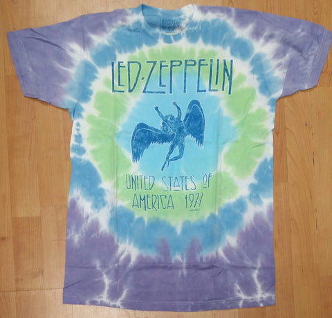Led Zeppelin Stairway to Heaven Men's Tie Dye Shirt