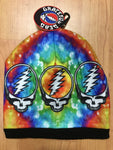 Grateful Dead Black Steal Your Face Knit Hat