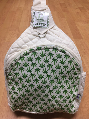 Mini Backpack Pot Leaf Design Bag