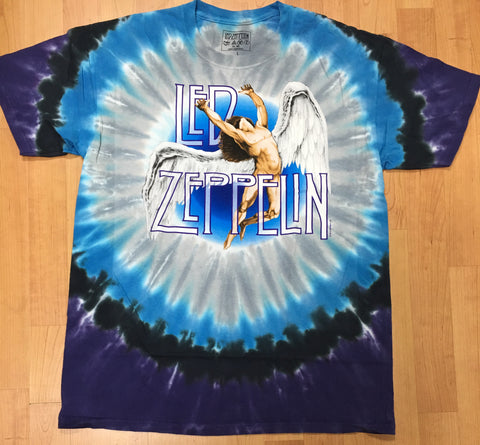 Led Zeppelin Swan Song Men's Tie Dye Shirt