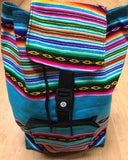 Boho Hippie Multicolored Backpack Bag