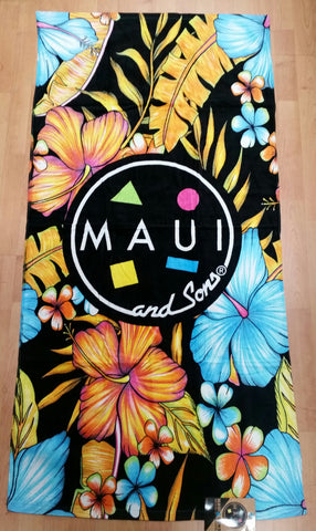Maui and Sons Hibiscus Beach Towel
