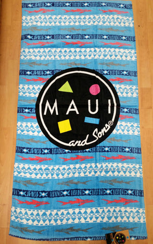 Maui and Sons Sharks Beach Towel