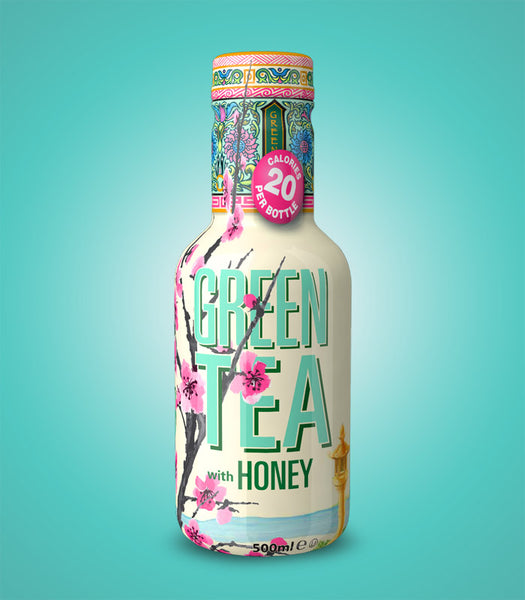 Arizona Green Tea with Honey Low Cal 500ml X 12