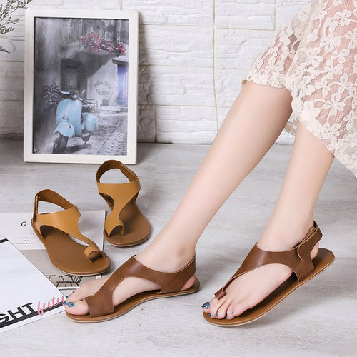 New 2019 Flat-Toed Women Plus-Size Sandals Lady Shoes