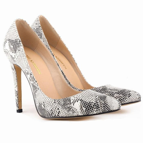 Serpentine Leopard Zebra Pattern High Heel Women Shoes