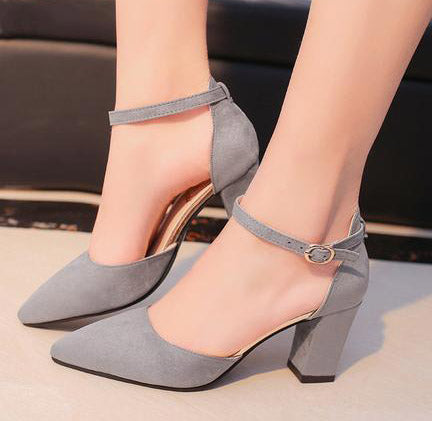 Sandalias femeninas high heels Autumn Flock pointed sandals sexy high heels female summer shoes Female sandals