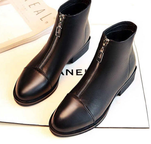 Slip On Elastic Band Rubber Shoes Winter Arrival Ankle Chelsea Boots Autumn Square Heel Female Footwear