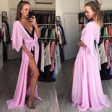 Load image into Gallery viewer, Women Swimsuit Cover Up Sexy Beach Cover Ups Chiffon Long Dress Solid Beach Bathing Suit