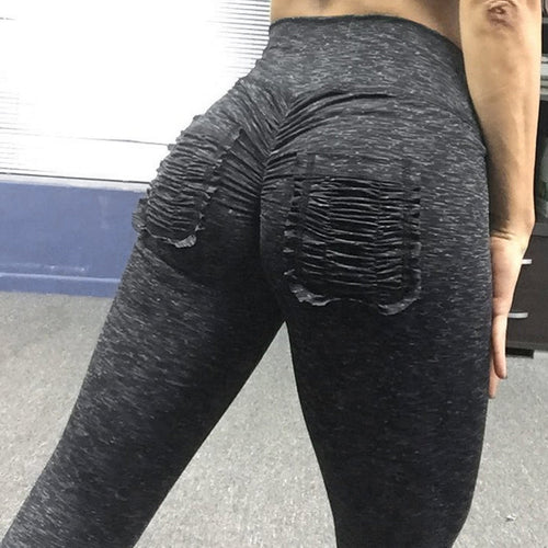 Sexy Scrunch leggings With Pocket High Waist Band Slim Skinny Workout Pants
