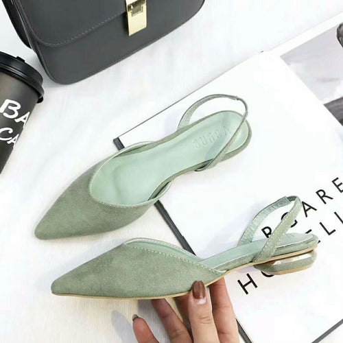 suede hollow comfortable ladies flat shoes single shoes