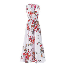 Load image into Gallery viewer, Women Sexy Slit Printed Beach Dress Summer Maxi Dress