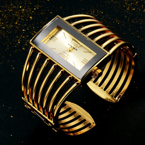 Luxury Fashion Rose Gold Bangle Bracelet Watch Women Dress Clock Female Lady