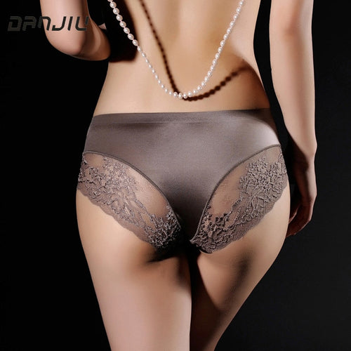 Women Lace Sexy Panties Luxury Seamless Solid Underwear Low Waist Woman Slim Breathable Ladies Underpants