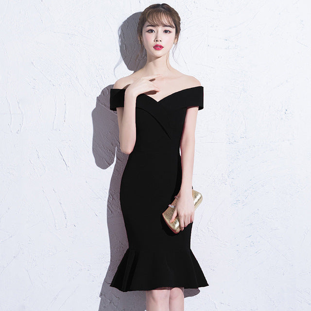 Short Burgundy Prom dresses 2019 new arrival fashion Sexy Mermaid Party Women Performance Dress