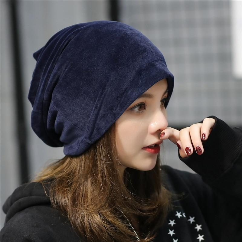 567f76beaeb Fashion Women Winter Beanie Hat Casual Female Solid Fleece Skullies ...