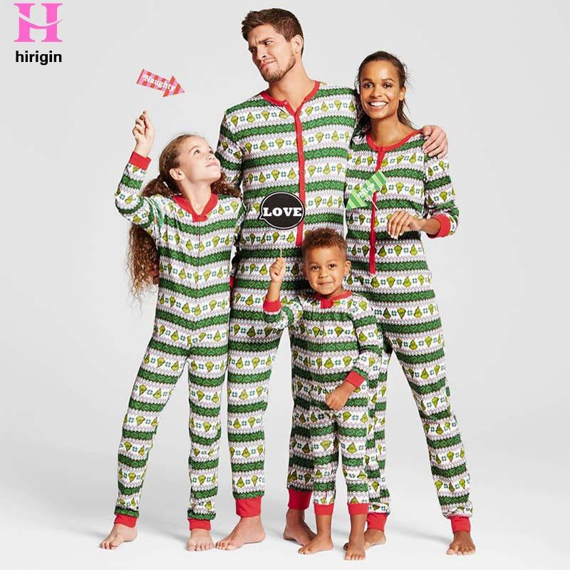 Christmas Pajama Onesies.Winter Fashion Family Matching Christmas Pajamas Set Family Look Outfits Parents Kids Pjs Sleepwear Onesies
