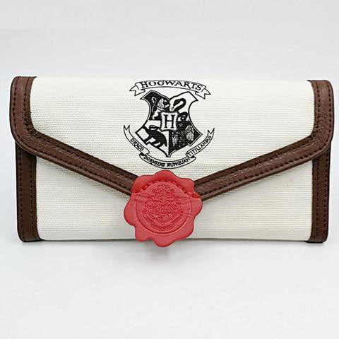 Hogwarts Letter Flap Wallet Women Long Mini Three Fold Wallet Cute Student Purse With Credit Card Holder