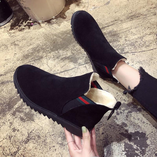 Women Boots Fashion Warm Winter Boots Women New Round Toe Feet Women Casual Shoes Size 36-40