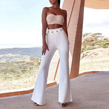 Load image into Gallery viewer, New Summer Flare Pants Women Sexy Skinny Pant High Waist White Red Black Trousers Party Bodycon Bandage Pants Long