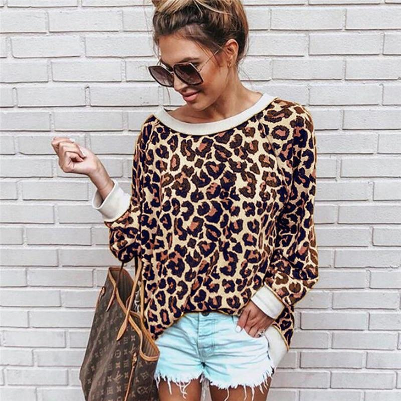 86fd9ecc617a Sexy Women Blouse Print Leopard Tops Long Sleeve Women Shirt And Blouses  Off Shoulder Ladies Blouses For Winter Womens Clothing